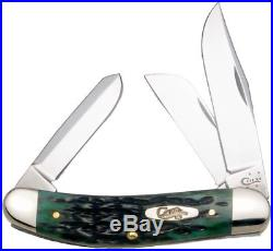 Pocket Worn Bermuda Green Sowbelly Pocket Knife Blades Fold into Handle Storage