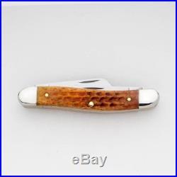 Pocket Worn Harvest Orange Stockman Pocket Knife 3 Blades Fold For Safe Storage