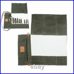 Professional 10 Slots Chef Knife Roll Bag Kitchen Utensils Storage Case Portable