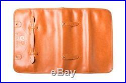 Professional Leather Knife Roll Up Storage Case Bag (8-Pocket) Travel Picnic