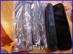 QTY 5- Black Storage Case Pouch Fixed Blade Knife Gun Scope Zipper 17