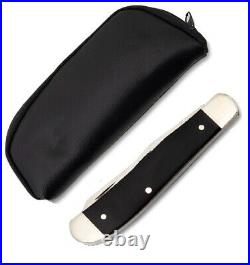 Queen pocket Knife Pilot Test Run Trapper black handle with storage case USA