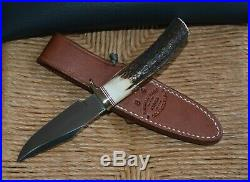 RANDALL KNIFE #8-4 Trout and Bird, Leather Sheath & Randall Soft Storage Case