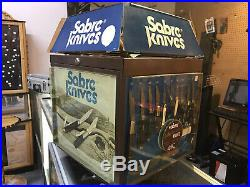 RARE 1980s Store Counter Knife Display Case Vintage DISPLAY CASE ONLY # READ #