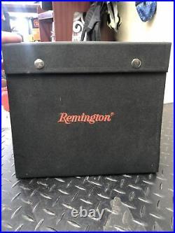 RARE Remington 24 Knives Foldable Knife Case Storage Display Brown Velvet