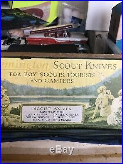 REMINGTON Knife WOODEN STORE DISPLAY CASE Boy Scout 1930s-40s Original