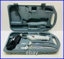 Rapala Deluxe Corded Electric Carving Filet Knife Set with 3 Blades & Hard Case