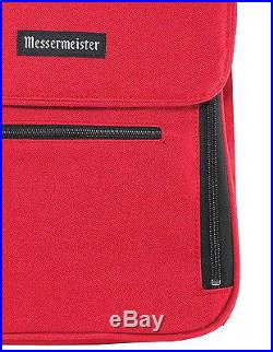 Red Messenger Knife Bag Storage Carry Cutlery Culinary Cooking Tool Case Pocket