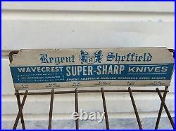 Regent Sheffield Wavecrest Knives Original Store Display Cases