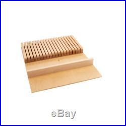 Rev-A-Shelf Knife Drawer Organizer 19 Slots Wood Kitchen Storage Case Holder
