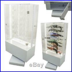 Revolving Light-Up 16 Knife Counter Top Store Display Case Gas Station C-STORES