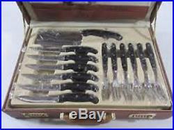 Royal Germany 24pc Kitchen Knife Set with Grey Storage Case