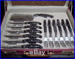 Royal Germany 24pc Kitchen Knife Set with Leather Storage Case NEW