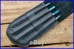 SK Knives Plain TiSushi Sticks Partially Annod Sapphire with Leather Storage Case
