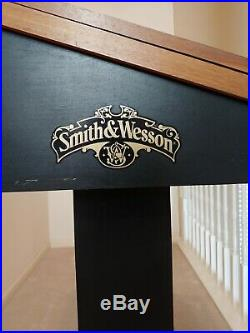SMITH & WESSON Knife Display Case Storage Cabinet with Shadow Box Top, Tool Box