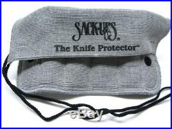Sack Ups AC802 Cotton Knife Tool Roll Protector Storage Case Holds 6 Knives