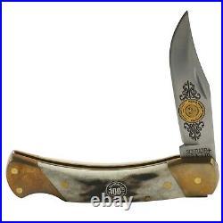 Schrade 100th Anniversary Stag Lockback Pocket Knife and Storage Case