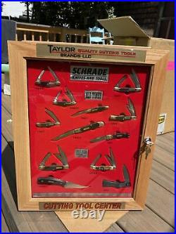 Schrade Knives & Tools Uncle Henry Old Timer Store Display Case With Knifes NOS