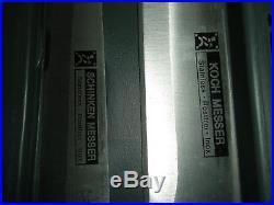 Set Of 18 Piece Koch Messer Stainless Knives, Sharpener, Storage Case New
