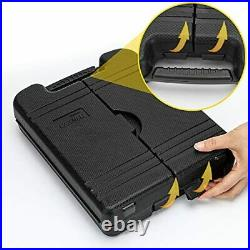 Set Of Home Repair Hand Tool Kit with Wrench Sets Plastic Tool Box Storage Case