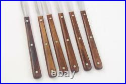 Set of 6 Case XX CAP 255 Stainless Paring Knives with Wood Handles in Storage Box