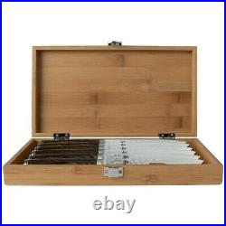 Shun Premier 6pc 5 Steak Knife Set with Bamboo Storage Case
