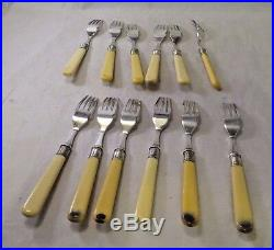 Silver Plated Fish Forks & Knives 24 PC with Storage Case Hamilton Laidlaw & Co