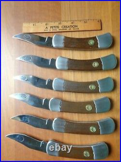 Six Legends of the Wild West Folding Knives- New with storage case