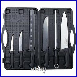 Slitzer Professional 6 Piece Stainless Steel Kitchen Chef Knife Set Storage Case
