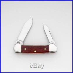 Smooth Chestnut Bone Baby Butterbean Pocket Knife Blades Fold Handle For Storage