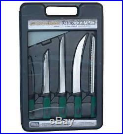 Sportsman Fishing and Hunting Knife Fixed Blade with Storage Case (6-Piece)