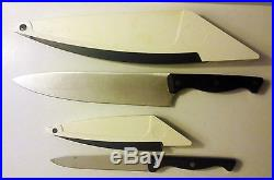THE PAMPERED CHEF 8 CHEF + 5 UTILITY KNIFE IN SHARPENING HONING STORAGE CASES