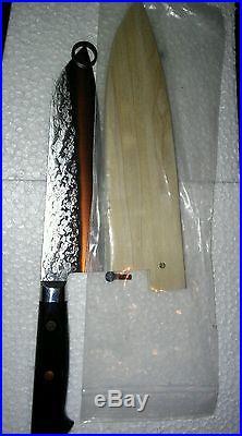 Takamura VG-10 Santoku (All purpose) Knife / 180mm (7) WITH WOOD STORAGE CASE