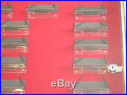 Timberline Folding 15 Knife Dealer Store Counter Wall Locking Glass Display Case