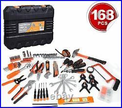 Tool Set 168Pcs General Household Garage Repairs Electricians Tools Storage Case
