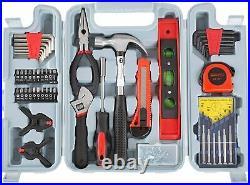 Tool Set Kit Repair General Household Toolbox Storage Case Durable Comfortable