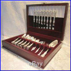 Traditions Flatware Chest Home Kitchen Forks Knives Spoons Storage Case Box