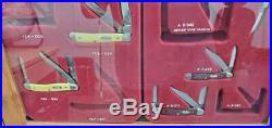 VINTAGE CASE XX POCKET KNIFE STORE DISPLAY CABINET With (7) KNIVES PRE-OWNED