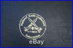 VTG NKCA HARD SHELL KNIFE COLLECTORS STORAGE CASE holds 24 FOLDING POCKET KNIVES