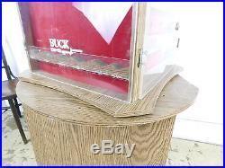 VTG Standing Buck Knife Store Locking Display Storage Case Carousel Excellent