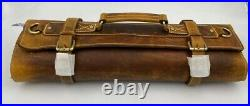Vero Nord Genuine Leather Knife Roll Storage Bag Travel-Friendly Chef Knife Case