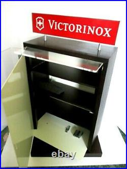 Victorinox Swiss Army Brands Limited Knife Rotating Locking Store Display Case