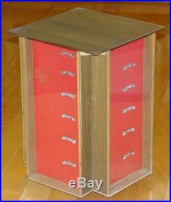 Vintage 1960s Schrade Walden Counter-Top Store Revolving Knife Display Case