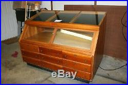 Vintage 1969 CASE XX CUTLERY Knife Store Floor Wooden Display Case 9 Drawer