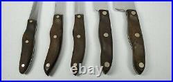 Vintage 5 Piece CUTCO Knife Set and Storage Case 1021 1022 1023 1024 1025
