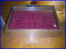 Vintage BUCK KNIVES STORE COUNTER TOP KNIFE DISPLAY CASE