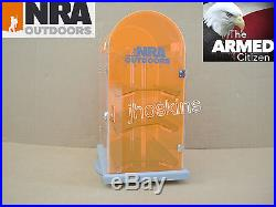 Vintage Benchmade NRA Outdoors Knife Display Storage Case Rotating Stand USA