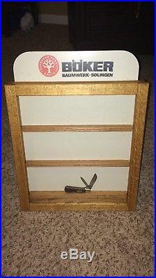 Vintage Boker Knives Display Case Knife Storage