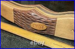 Vintage CASE KNIVES 16.5 Wood Hand-Carved 2-Blade Knife Folk Art Store Display