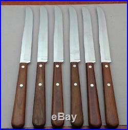 Vintage Case XX 6 Piece Steak Knife Set Cap 254 In Original Storage Box